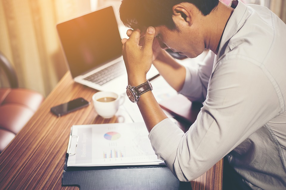 man considering income protection
