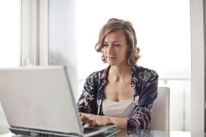 woman online property viewing